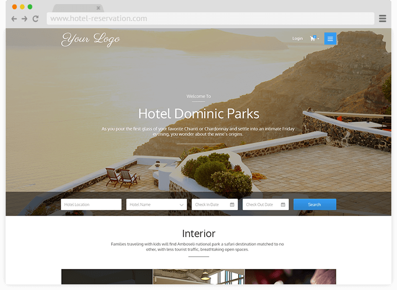 An image showing the front end of QloApps. Showing How QloApps Launch Hotel Booking Website