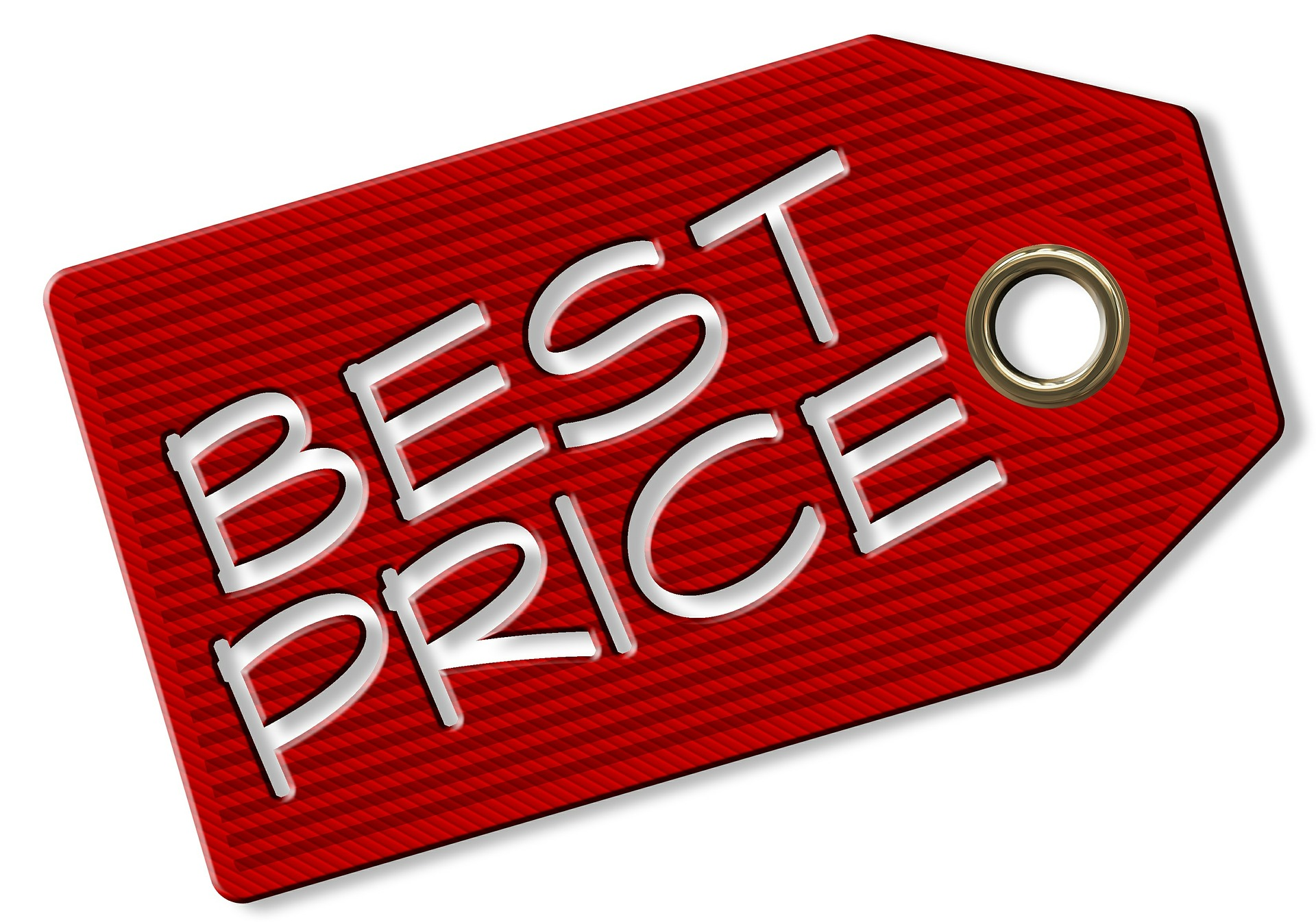 An image showing best price tag