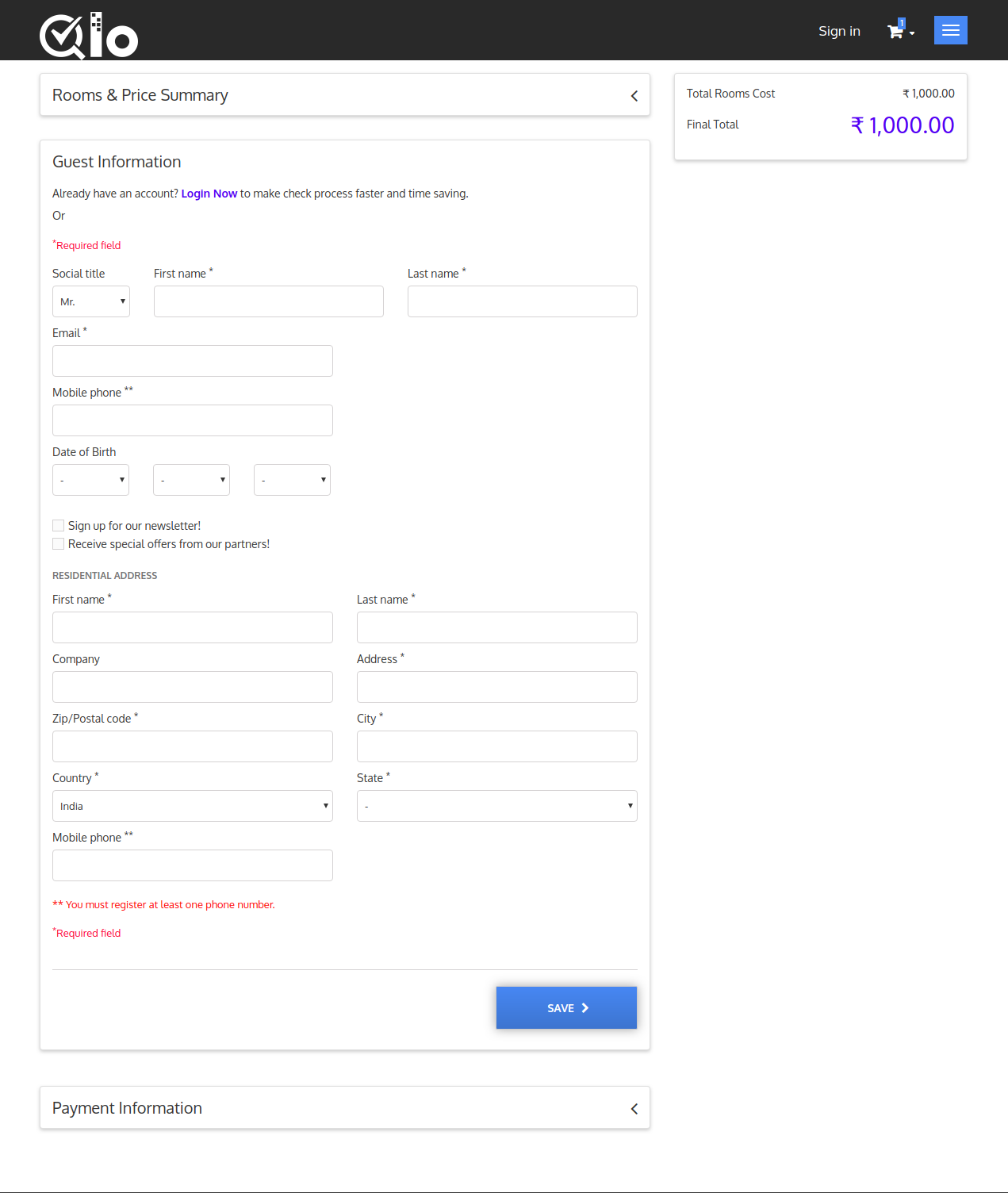 QLO Reservation System - QloApps Hotel Reservation