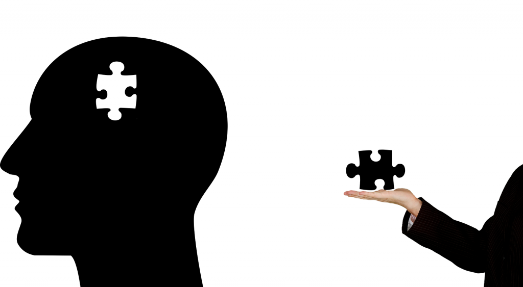 black color brain picture is showing about  psychological factors boost your hotel bookings