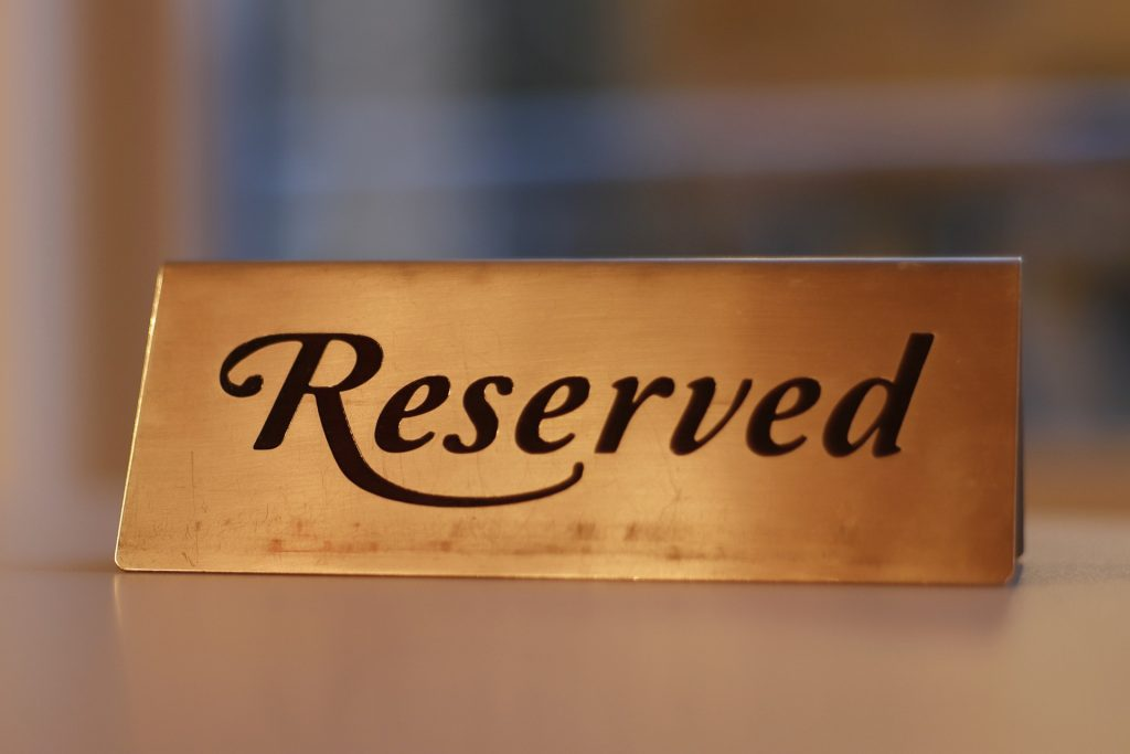 A picture depicting hotel reservation