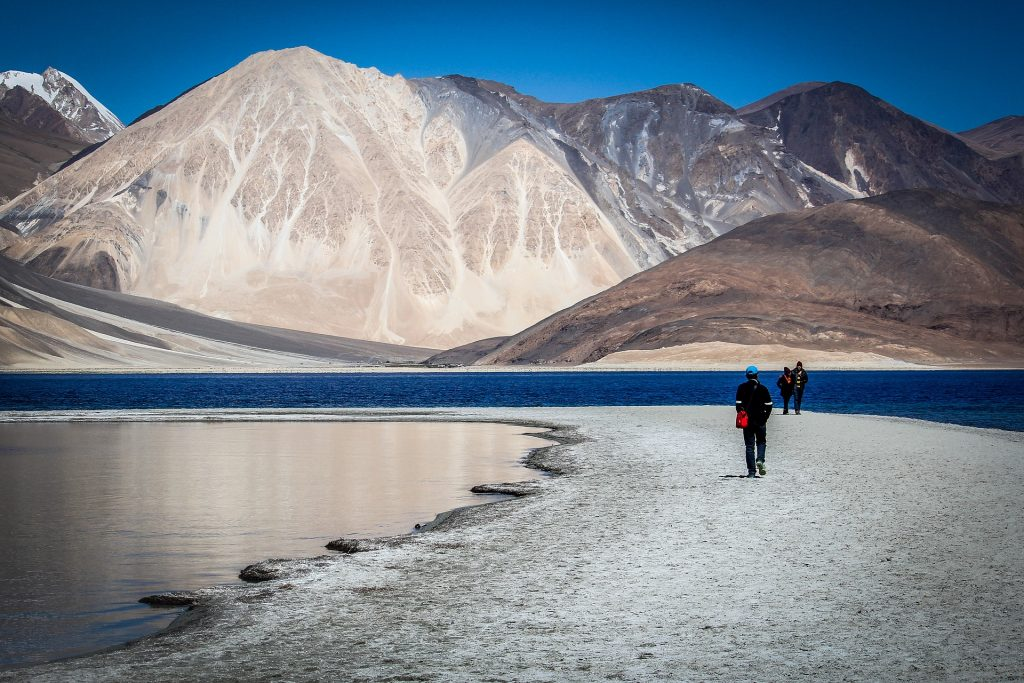 Travelers in Ladakh, one of the places you can visit in India